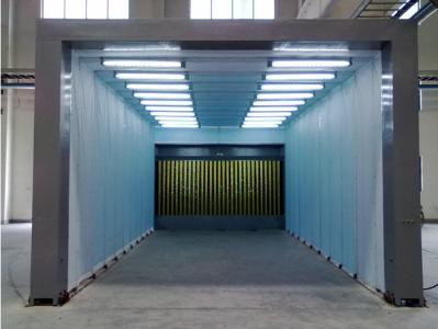 移动伸缩式环保喷漆房
